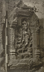Kashmir. Temple of Marttand or the Sun. Niche in the interior - female figure probably representing one of the Sun's wives, 'the Moon in conjunction,' 'Intellect,' or Brightness.'